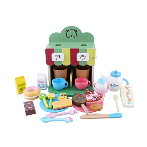 Spielzeug Küchenspielzeug Set, Küchengeräte, Spielzeug Küchenzubehör, Frühstück Kaffeemaschine Nachmittag Tee Küchenspielzeug Rollenspiele Kinder Pädagogische Spielzeug (Color : Green)