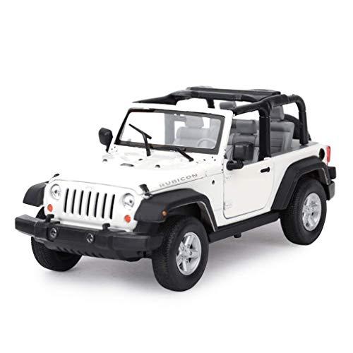 Modelo de coches para niños 1: 24JEEP modelo de simulación de coches, aleación de campo a través del vehículo modelo de juguete, coches colección de los amantes de la joyería, la decoración de la ofic