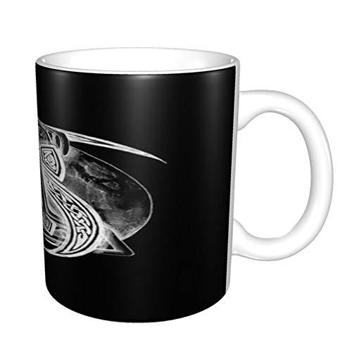 Ravens Norse Mythology Viking - Taza divertida de cerámica de 325 ml, diseño de sarcasmo, motivador, regalo de cumpleaños inspirador para amigos, compañeros de trabajo, hermanos