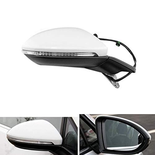 HUANGRONG Cubierta del Espejo retrovisor del Coche Coche eléctrico Plegable retrovisor Espejo de Espejo Espejo de calefacción con luz para Golf 7 mk7 2014-2016 5g 857 507 a (Color : Right)