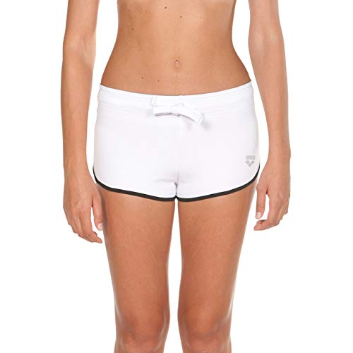 ARENA Damen Sport Hose Gym Fleece Short, White, M