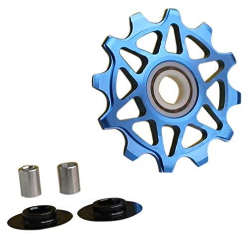 NOBRAND Polea Guía AL7075 CNC Bicicleta de Carretera 4mm 5mm 6mm cojinete de la Rueda Posterior de la Bicicleta MTB Jockey Desviador Rodillo Loco (Color : Blue)