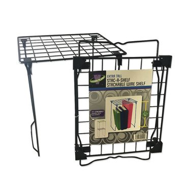 Locker Planet Black - Extra Tall Stackable Wire Shelf - Exclusive Color Collection