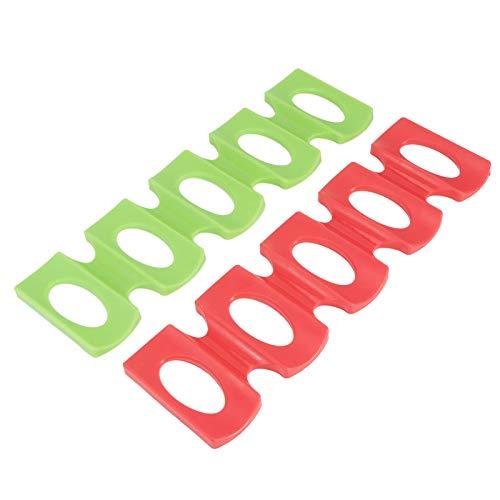 Bandeja de refrigerador Apilador de latas Apilador de botellas de silicona Apto para lavavajillas Soporte para botellas de vino Apilador de botellas rojo + verde de silicona para