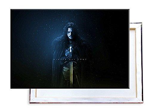 Unified Distribution Game of Thrones - Jon Snow - 120x80 cm - Bilder & Kunstdrucke fertig auf Leinwand aufgespannt und in erstklassiger Druckqualität