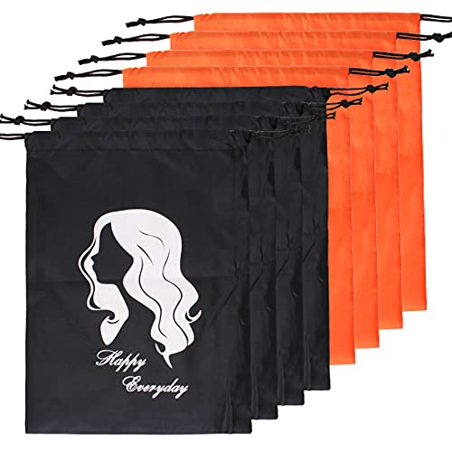 COOKOO 8 Pcs Hair Storage Bag With Drawstring for Women,Large Bags for...