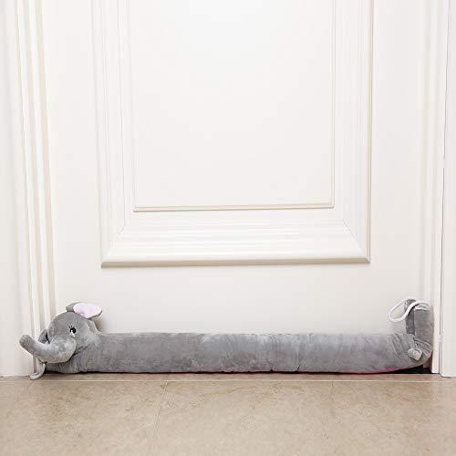 "TRUEDAYS 37"" Door Draft Stopper Elephant Heavy Duty Seal Door Window Noise Air Stopper with Hanging Cord-Keep Heat or Cool Air Indoors"