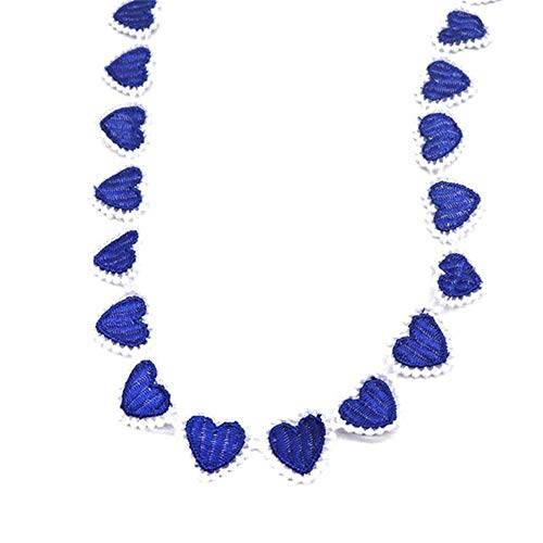 H690 kleurrijke hart kant trim breien bruiloft kant geborduurd diy handgemaakte patchwork lint naaibenodigdheden ambachten, donkerblauw
