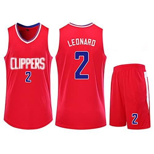 PPDD Lěonǎrd 2# Camisetas para Hombre Baloncesto Jersey Sportswear Sin Mangas Ejercicio Diario Vestido Deportivo Vestido Deportivo Estudiante Camisa de Entrenamiento al XL