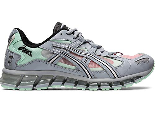 ASICS Zapatillas de correr Gel-Kayano 5 360 para hombre, gris (Color gris piamonte/menta), 41 EU