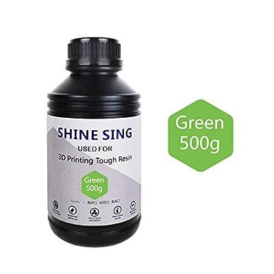 SHINE SING 3D Rapid Resin LCD UV-Curing Resin 405nm Standard Photopolymer Resin for LCD 3D Printing 500Gram Green