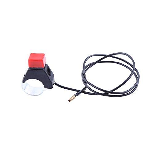 Botón de interruptor de parada universal, Interruptor de parada de llama de parada del motor de seguridad con línea para mini Moto Quad Dirt Bike, para 22mm manillar 49cc motocicleta
