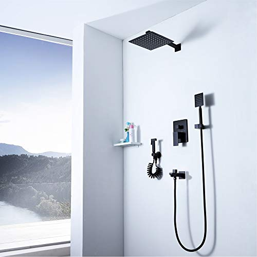 New L.J.JZDY Shower Set Black Shower Set Warm Thermostat Bidet Shower Shower Shower Head Shower Show...