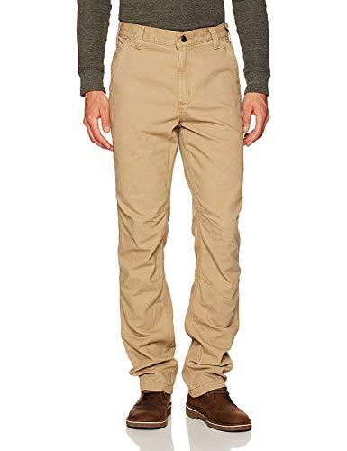 Carhartt Rugged Flex Straight Fit Canvas 5-Pocket Tapered Work Pant Pantaloni da Lavoro, Dark Khaki, W38/L32 Uomo