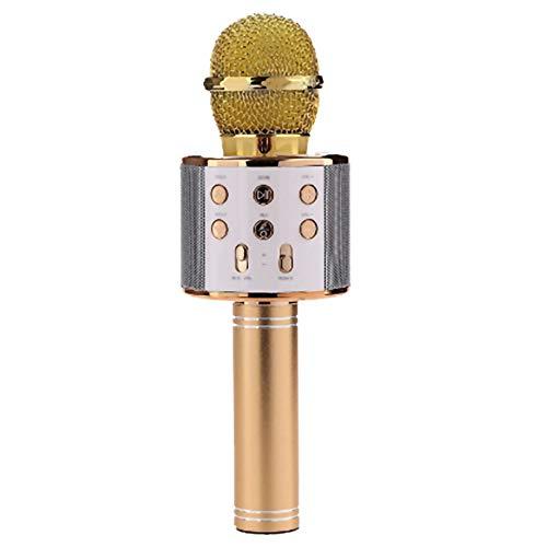 Unbekannt Drahtloses Mikrofon, Wireless Bluetooth Bewegliche Hand Karaoke-Mikrofon-Lautsprecher-Weihnachtsgeburtstag Zuhause-Party Für PC Oder Alle Smartphone,Gold