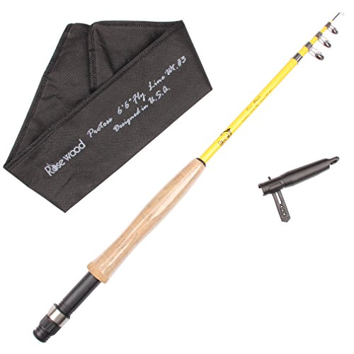 Rosewood 6'6'' Telescopic Fly Fishing Rod EVA...