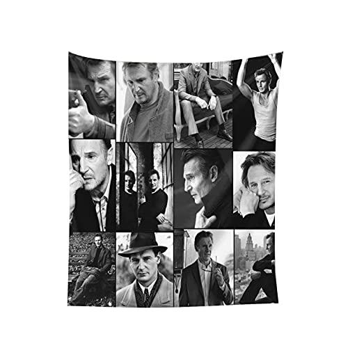 XCNGG Tapiz Liam Neeson tapices populares para colgar en la pared, manta de pared, arte de pared para sala de estar, dormitorio, hogar, decoración del hogar, manta de playa