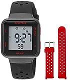 Armitron Sport Quartz Sport Watch with Silicone Strap, Black, 17 (Model: 45/7123BKRST)