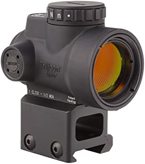 Trijicon MRO-C-2200006 1x25mm Miniature Rifle Optic (MRO) Riflescope with 2.0 MOA Adjustable Red Dot Reticle with Lower 1/3 Co-Witness Mount