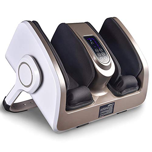 AW 3in1 Electric Shiatsu Foot Massage Calf Machine Leg Arm Ankle Squeeze with Heat Therapy Roller Vibration Remote