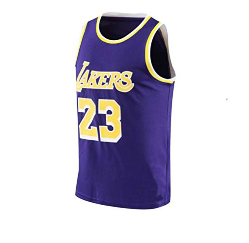 Sudadera de Baloncesto para Hombre 23# James Sudadera S-4XL,Púrpura,L