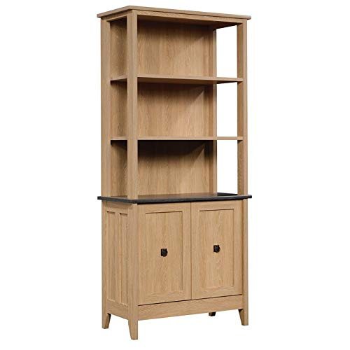 Sauder 426135 August Hill 5 Shelf Bookcase, Dover Oak Finish