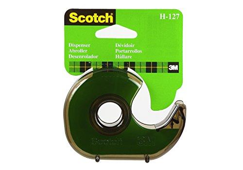 Scotch  H-127  Spender wiederaufladbar Tisch-, 19mm x 33m, grau Rauch