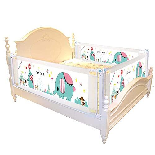 barrera cama Shuai Plegable con Cerradura De Seguridad Se Puede Subir Y Bajar con Una Mano Barandilla De Seguridad para Niños Pequeños Altura Ajustable 1 Lado(Size:Length 150cm)
