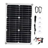 MagiDeal Controlador de cargador de batería de panel solar de 180w Controlador USB dual + Kit de cables solares - Sin controlador