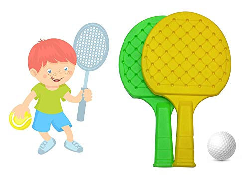 Pelo Indoor Fun time Table Tennis Badminton Plastic Racquet Ball Toy for Kids Set for Kids Pack of 1 (Table Tennis)
