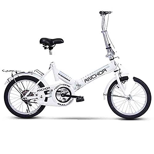 ZHANGYN Cuerpo De 155 Cm, Bicicleta Plegable De Absorción De Choque Potente, Caja De Cambios De 21 Velocidades, Marco Plegable De La Bicicleta De Montaña, Con Ruedas De 20 Pulgadas, Mult(Color:blanco)