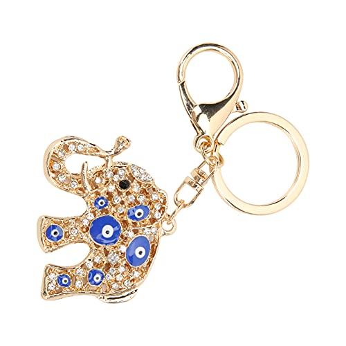 Veloraa Evil Eye Schlüsselanhänger, bunter schöner Elefant Schlüsselanhänger für Autoverzierungen für Wandverzierungen für Handtaschenverzierungen