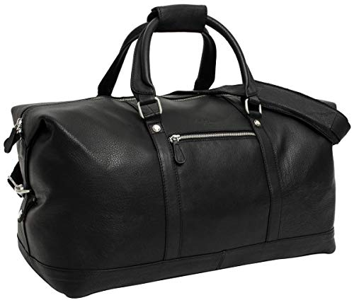 Gusti Leather 'Chelsea' Travel Bag Sports Bag Weekender Black Leather
