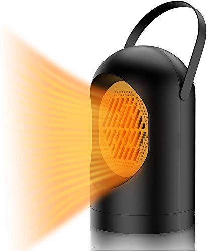 Calentador de ventilador, Leeofty mini estufa eléctrica, calentador de espacio portátil de bajo consumo, calentador de ventilador doméstico, utiliz