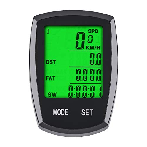 SY Bicycle Speedometer and Odometer Wireless Waterproof Cycle Bike Computer with LCD Display & Multi-Functions by YS (YS-589)