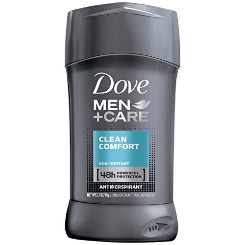 Dove Men+Care Antiperspirant Deodorant Stick, Clean Comfort, 2.7 Ounce (Pack of 6)