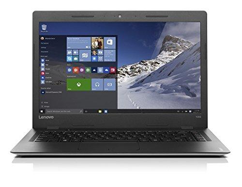 Lenovo ideapad 100S 35,56cm (14 Zoll HD Glare) Slim Laptop (Intel Pentium N3710 Quad-Core, 2,56GHz, 4GB RAM, 256GB SSD, Windows 10 Home) silber