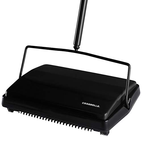 Discover Bargain Casabella Floor & Carpet Sweeper Manual Non Electric Cleaner
