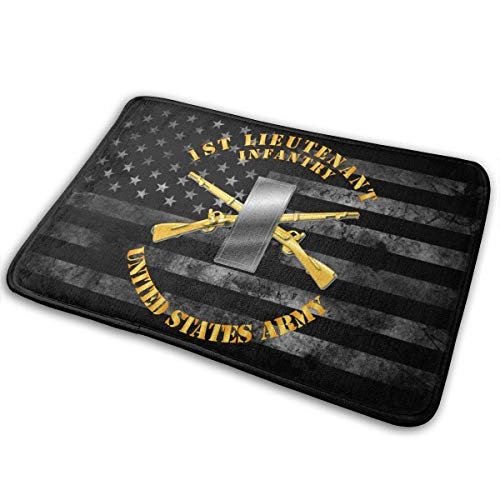 Hangdachang Army 1ST LT Infantry Door Mat Outside,Multi-function And Washable - Indoor Home Decor Bath Kitchen Rug 23.6x15.7in
