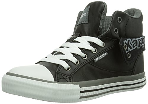 Kappa Unisex-Erwachsene Baron Footwear High-Top, Schwarz (1116 Black/Grey), 40 EU