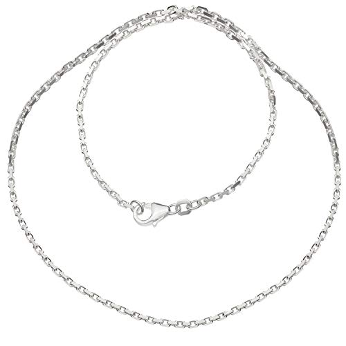 Schmuck-Pur Massive echt 925/- Silber Ankerkette 50cm Halskette