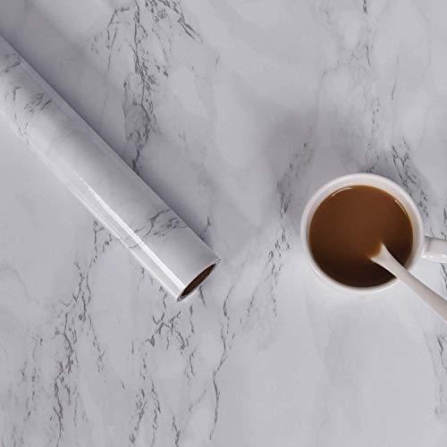 Sunm Boutique Marmor Selbstklebende Klebefolie aus PVC Aufkleber Matt Möbelfolie Folie Tapete Dekofolie für Wände Schränk Wasserdicht, 45cm x 2m