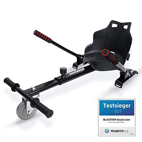 BLAUSTEIN EasyCruiser Kart-Erweiterung für alle Hoverboards - Deutsche Qualitätsmarke - 6,5-10 Zoll - Sitz Hoverkart - mit integrierten Bremsen und Verstellbarer Länge