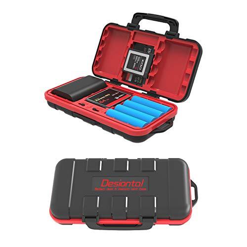 Estuche Tarjeta SD y Caja de la batería de la cámara, Estuche para Tarjetas de Memoria para 2 Baterías de cámara 2 CF 4 SD 6 TF Portátil Impermeable y a Prueba de Golpes, Caja de Tarjeta SD