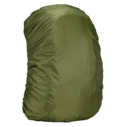 Wpond Upgraded Camouflage Backpack Rain Cover 35-80L Lightweight Waterproof Backpack Bag Rain Cover For Musical Instrument,Travel, Climbing, Hiking and Outdoor Activities ArmyGreen 35 liters (S)