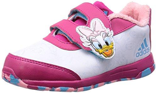Disney Mädchen-Sportschuhe (Kleinkindergröße) Classic Daisy Duck, weiß-pink