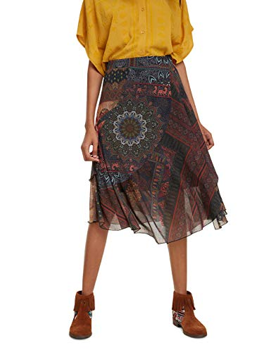 Desigual Damen Skirt Luka Rock, Mehrfarbig (Tutti Fruti 9019), Large (Herstellergröße: L)