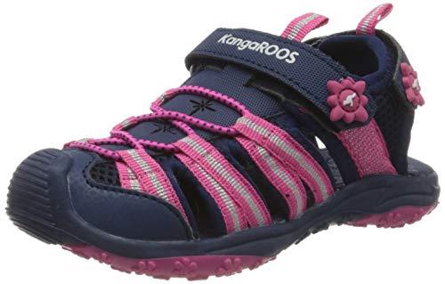 KangaROOS KT-Sonata Unisex-Kinder Sneaker, Blau (Dark Navy/Daisy Pink 4204), 39 EU