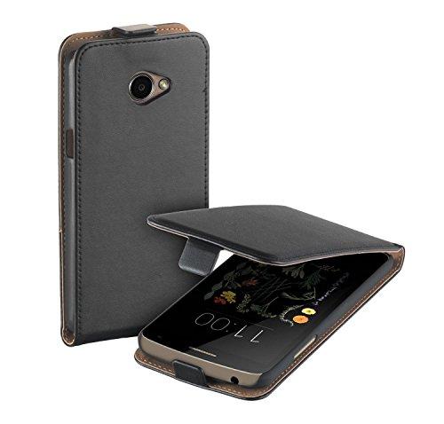 yayago Flip Tasche für LG K5 Hülle Flip Hülle Schwarz