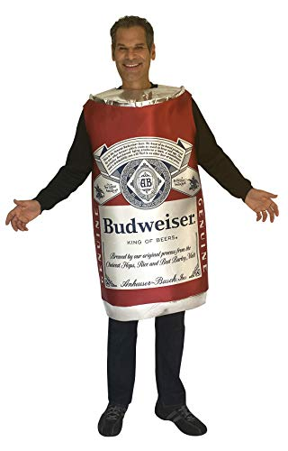 Budweiser Vintage Beer Can Costume Unisex design fits Men Women 21+ of age